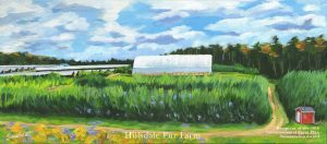 2016 Award Winner: Hillsdale Fur Farm. Painting by Susan Sweet