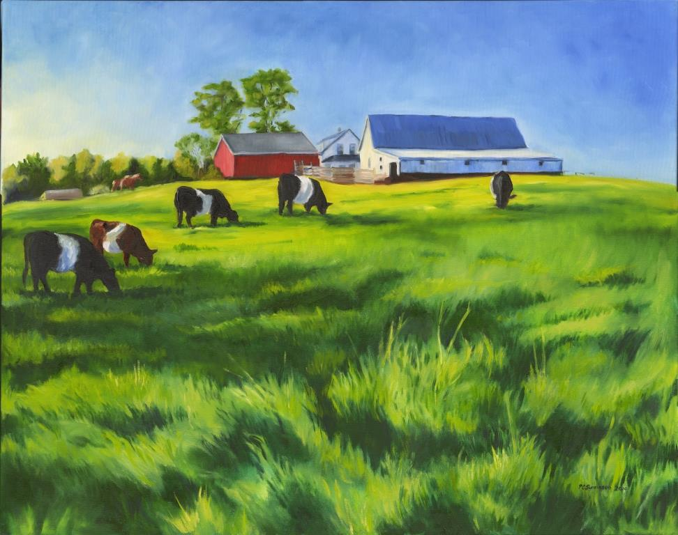 2014 Award winners: Out to Pasture Farm Farm painted by Pamela Swainson.